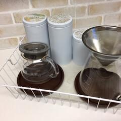 私のおうち自慢。/お茶セット/100均グッズ/ワイヤーバスケット/おうち自慢 私のおうち自慢。 お茶セット収納していま…