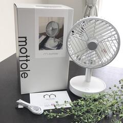 おすすめアイテム/コンパクト/扇風機/シンプルライフ/モノトーン/シンプル/... mottoleの扇風機を購入しました。シ…