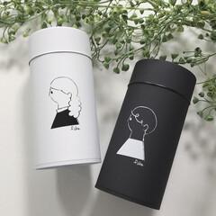コーヒー缶/モノトーンインテリア/モノトーン/シンプルライフ/シンプル/おしゃれ コーヒー缶fikaのペアセットを購入しま…