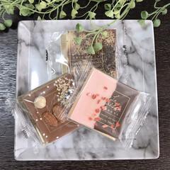 可愛い/チョコレート ラ・メゾン白金のタブレットチョコレート。…