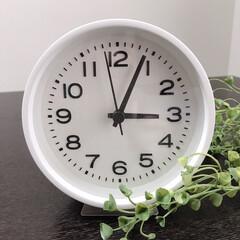 置き時計/時計/無印/シンプル/シンプルライフ/雑貨/... 無印良品のシンプルな時計。 「アナログ時…
