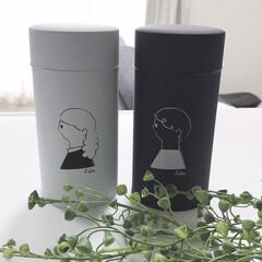 コーヒー缶/モノトーンインテリア/モノトーン/シンプルライフ/シンプル/おしゃれ コーヒー缶fikaのペアセットを購入しま…(2枚目)