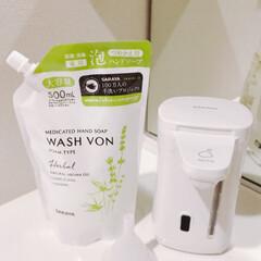シンプルライフ/シンプルデザイン/洗面所/おすすめアイテム エレフォームポットが便利すぎる