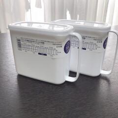 冷蔵庫整理/冷蔵庫収納/整理整頓/シンプル/セリア/100均/... セリアの「取手付きストッカー」で冷蔵庫の…