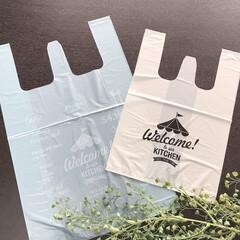 袋/シンプルライフ/シンプル/可愛い/レジ袋/ダイソー/... ダイソーに行った時に可愛いレジ袋が売って…