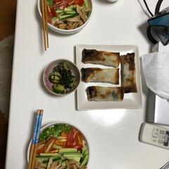 そうめん2019 夏野菜たっぷりのせ素麺🍅 きゅうりは酢の…(2枚目)