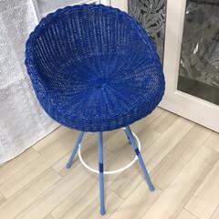 ペイント 籐の椅子を塗り替えました。😆