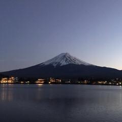 富士山 夕方 ウオーキングして みました。 空気…