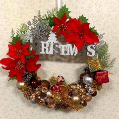 クリスマスリース/山茶花/実家/父/月命日/お墓まいり/... おはようございます☀  またクリスマスリ…