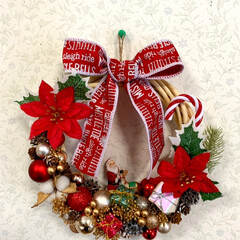 クリスマスリース/手芸用のスパンコール/オーナメント/クリスマスモール/🍘/工作/... こんばんは🌛 急に寒くなりましたね🥶  …(1枚目)