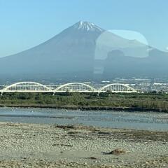 富士山/親友/鎌倉横浜旅行/おでかけ おはようございます☀  今🚅新幹線の中で…