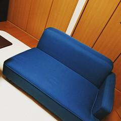 新年に買ったもの 差し色でブルーのソファーを入れました。一…