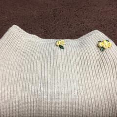 リメイク/小さな幸せ/ハンドメイド/ファッション/暮らし/節約 古いベストに刺繍を入れてみました!