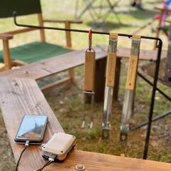 DIYキャンプ/DIY/バッテリー/ブラックアンドデッカー/アウトドア/camp/... 友達作のキャンプギア、ヘキサゴンテーブル…