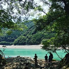 夏休み/キャンプ場/アウトドア/キャンプ/川遊び 日置川にキャンプに行きました♬ 川が綺麗…