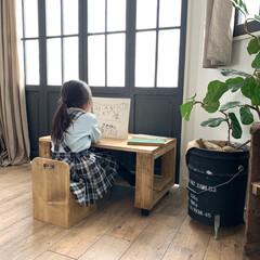 おもちゃ入れ/おもちゃ収納/子供部屋に/子供部屋女の子/椅子DIY/子供部屋/... おもちゃを収納できるキッズチェアを作りま…