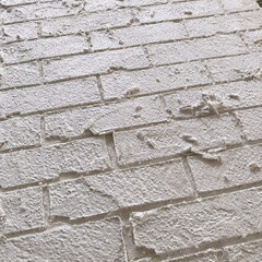 うま〜くヌレールDECO/うまくヌレール/レンガ壁/レンガ造形/DIY/100均/... 造形用漆喰でレンガ造形しました♬ 立体的…(1枚目)