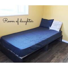 ベッドDIY/ベッド/娘の部屋/子供部屋/インテリア/DIY/... 娘の部屋にベッドを作りました♬ レシピも…