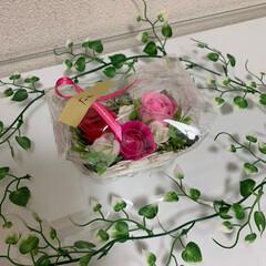 ソープフラワー/薔薇/リミアの冬暮らし/雑貨/ハンドメイド/住まい/... 薔薇のソープフラワーで籠飾りを作ってみま…