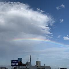 虹/綺麗/屋上駐車場/ドンキホーテ/空 綺麗な虹🌈今日ドンキの屋上駐車場から、、、