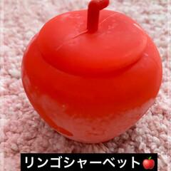 可愛い容器/大人大好き/子供大好き/シャーベット/リンゴ/昔懐かし/... 昔懐かし…リンゴ型の容器に入った、リンゴ…