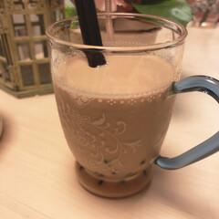 業務スーパー/タピオカ/おうちカフェ/暮らし 夜のおうちカフェ⭐︎  業務スーパーのタ…