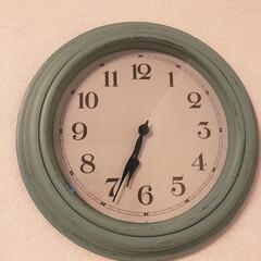 掛け時計/リビングあるある/雑貨/住まい/暮らし リビングの時計を新調しました。  少し前…