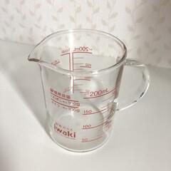 計量カップ/耐熱ガラス/イワキ/Amazon/iwaki 耐熱ガラス性のメジャーカップ♩ プラスチ…