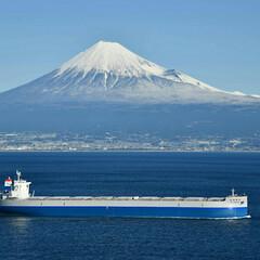 試運転/富士山 富士山と新しい船の試運転