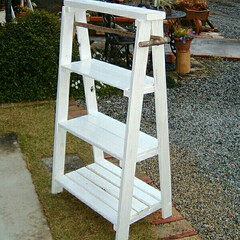ラック/DIY 木製ラック  前に小物の整理をするために…