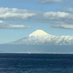 富士山 今日の富士山 駿河湾の海の上から撮影