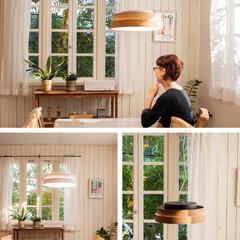 ノルディック/木目/新生活/昼白色/電球色/調色/... ナチュラルな天然木が お部屋を優しい雰囲…(3枚目)