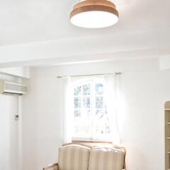 調色/調光/天井照明/照明/LEDシーリングライト/LED/... 選べる6種類の木枠♪  一般的なドーム型…(2枚目)