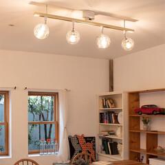 ウォールナット/天然木家具/ライティングレール/ダクトレール/ペンダントライト/シーリングライト4灯/... お部屋の照明は もっと、たのしもう♪  …(5枚目)