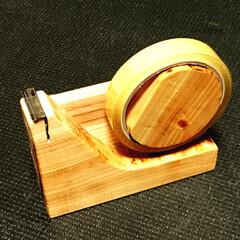 木工/テープディスペンサー/テープカッター/DIY 市販のテープディスペンサーでよく起きる「…