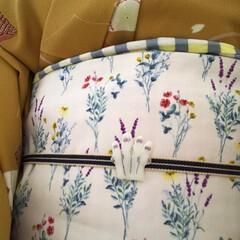着物/100均/ハンドメイド/おでかけ/ファッション 着物のキロク👘 ムーミン展の為、帯と帯留…(3枚目)