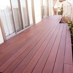 DIY/木材/MINO/彩木/彩木ウッドデッキ/ウッドデッキ/... 狭小の庭がウッドデッキで一変!デッドスペ…