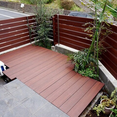 DIY/彩木/MINO/ウッドデッキ/自然素材/木材/... 狭小の庭がウッドデッキで一変!デッドスペ…