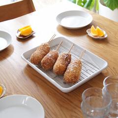 休日ランチ/休校中/こどものいる暮らし/チーズハットグ/ランチ/キッチン雑貨/... 今日はお昼ごはんにチーズハットグを作りま…