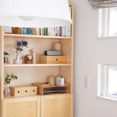 花/ドライフラワー/リビングインテリア/本棚/飾り棚/イケア/... リビングの本棚。 暖かくなって来て花屋さ…