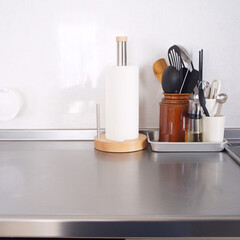 ideaco/イデアコ/キッチンペーパーホルダー/キッチンペーパー/キッチン雑貨/キッチン/... イデアコのキッチンペーパースタンド。 木…