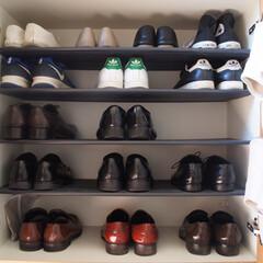 靴/下駄箱収納/靴箱収納/靴箱/断捨離/下駄箱/... 靴箱を見直ししました。 冬用の靴は洗って…