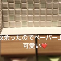 モザイクタイル プチコレガラスMIX ホワイト | 藤垣窯業(その他建築用タイル)を使ったクチコミ「モニター商品! WHITE 15x15 …」(2枚目)