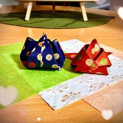 おりがみ/ひなまつり 折り紙のお雛様🎎 職場のお母様が作ってく…