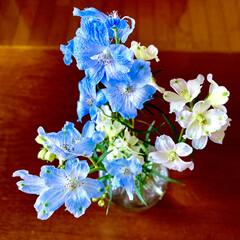ミニブーケ/生花/一人暮らし/ナチュラル 可愛いお花見つけました(*´꒳`*) お…