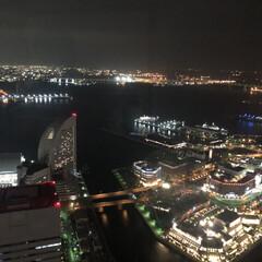 おでかけ 横浜の夜景です。キラキラしてとても綺麗💫✨(1枚目)