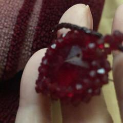 ハンドメイド/誕生石 誕生石のガーネットで、ネックレス作りまし…(1枚目)