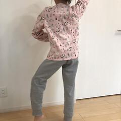パジャマ/裏起毛/GU/秋 GUで娘たちの秋冬パジャマゲット。 裏起…(1枚目)