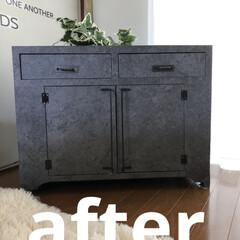 壁紙屋本舗/セリア/DIY/収納/雑貨/ハンドメイド/... 30年以上昔に買ってずっと使っていた家具…(1枚目)