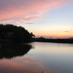 夕陽 いつかの夕陽。  今日の夕陽は最後の1枚…(2枚目)